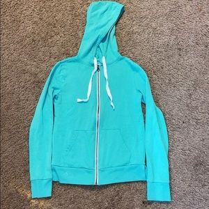 Teal zip up jacket